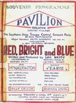"""Figure 01.17. Program cover for """"Red, Bright and Blue."""""""