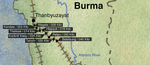 Figure 03.02. Burma Railway Map #1. Thanbyuzayat/000 Kilo—Betetaung.