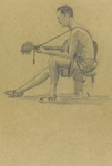 Figure 06.05. Jimmy van Lingen. Pencil sketch by Stanley Gimson.