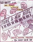 "Figure 10.06. Hand-drawn and colored poster for ""Strike A New Note."""