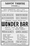 "Figure 13.03. Poster for André Charlot's ""Wonder Bar."""