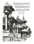 Himalayan Research Bulletin, Volume 03, Number 1