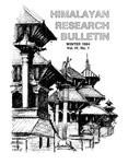 Himalayan Research Bulletin, Volume 04, Number 1