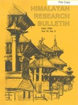 Himalayan Research Bulletin, Volume 04, Number 3