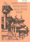 Himalayan Research Bulletin, Volume 06, Number 1