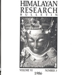 Himalayan Research Bulletin, Volume 06, Number 3