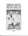 Himalayan Research Bulletin, Volume 07, Number 1