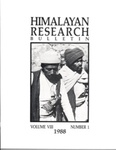 Himalayan Research Bulletin, Volume 08, Number 1