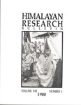 Himalayan Research Bulletin, Volume 08, Number 3