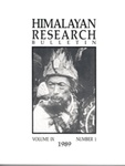 Himalayan Research Bulletin, Volume 09, Number 1