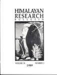 Himalayan Research Bulletin, Volume 09, Number 2